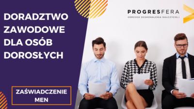 Doradztwo zawodowe dla osób dorosłych – szkolenie online